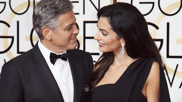 george clooney bei den golden globes 2015 r hrende liebeserkl rung an amal clooney. Black Bedroom Furniture Sets. Home Design Ideas