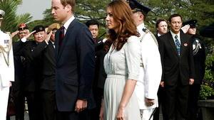 Das zarte Bäuchlein unter dem Kleid von Herzogin Catherine heizt die Babygerüchte an