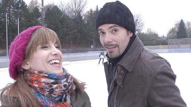 GZSZ-Schlittschuhlauf-Dreh mit Isabell Horn und Daniel Fehlow