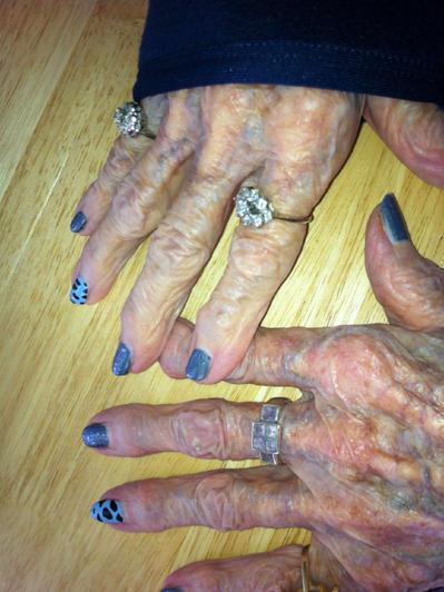 Verrückter Nagellack Nägel